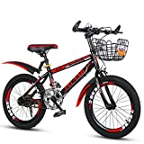 Xi Man Shop Kinderfahrrad Mountainbike Fahrrad des Jungen Mädchen Fahrrad 18〃/20〃/22〃 (Color : Red, Size : 22in)