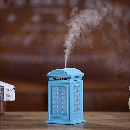 Phone Booth kreative USB mini Luftbefeuchter desktop kleine Luftbefeuchter, 80 × 80 × 142 mm, blau
