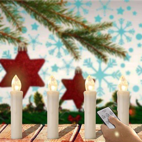 SPEED 40 x Led Luz Vela para árboles Navidad Inalámbrico Blanco Cálido Blanco Cubrir