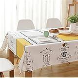 pengweicoffee mesa mantel Pastoral algodón y lino mantel mesa Rectangular Gamuza de mesa de café, 105* 140cm