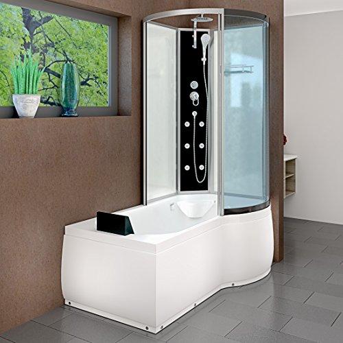 AcquaVapore DTP8050-A000L Wanne Duschtempel Badewanne Dusche Duschkabine 170x98, EasyClean Versiegelung der Scheiben:2K Scheiben Versiegelung +79.-EUR