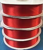 Nastro Doppio Raso Rosso 25 mm x 50 mt