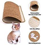 bouncevi Cat Scratch Board, Sisal Pad Grinding Pet Pet Carpet Sofa, Non-Slip Cat Memo Book Sofa Lounge with Catnip, Cat Carpet Game Mat