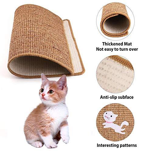 Wood.L Katzen-Kratzmatte Katzenteppich -, Sisal, Rutschhemmend - Sisal-Matte, Geeignet Für Fußbodenheizung, Sisalteppich Für Wand & Boden