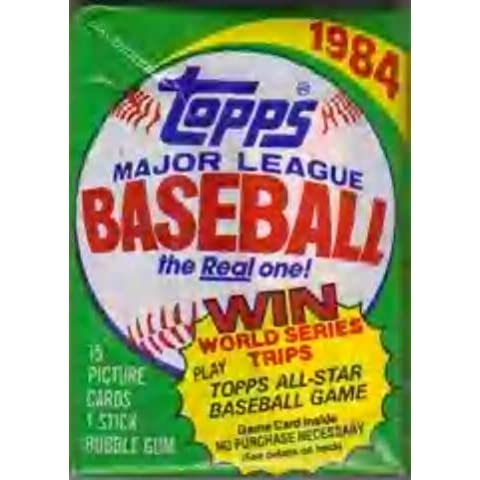 Lot of 3 1984 Topps Baseball Wax Packs (45 Cards Total) Possible Mattingly, Strawberry Rookie Cards by Topps