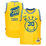 adidas Stephen Curry Golden State Warriors Hardwood Classics Swingman Jersey, Uomo, Gold
