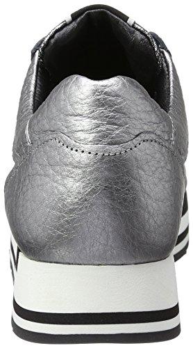 Kennel und Schmenger Schuhmanufaktur  Rock, Sneakers Basses femme Silber (gun/leo Black Sohle Schwarz)