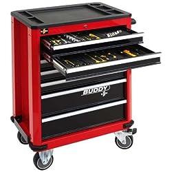 Werkzeugwagen Buddy, rot, leer, ELORA-1210-LROT, 1210000016000