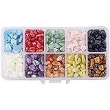 """PandaHall Elite 1 Scatola Perline Pietra Beads Charm Naturale per Decorazione Mestiere Fai da Te, 5-8x5-8mm, Foro: 1mm, Circa 31,5"""""""
