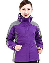 XLHGG Fonction lumineuse féminines Venture Jacket Outdoor coupe-vent K-Way (deux pièces chaudes)