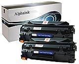 Alphaink AI-KIT2-CE285A 2 Toner compatibili per HP Laserjet M1130 MFP P1102W CE285A 85A 2000 copie al 5%