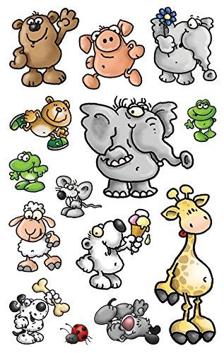 Avery Zweckform 53193 Kinder Sticker Tiere 42 Aufkleber
