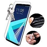 Huhuswwbin Pellicola Protettiva, Full Coverage Pellicola salvaschermo Premium Pet Premium per Samsung Galaxy S8 S8 Plus - Clear 1pz per Galaxy S8