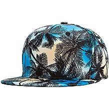 Uomini Ragazzi Moda 3D Albero Di Cocco Berretto Da Baseball Cappello Di Hip  Hop Blu dafd4a8f2e5c