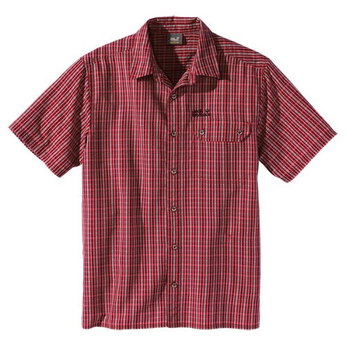 Jack Wolfskin Mount Kenya Chemise pour homme Rouge Indian Red Checks S
