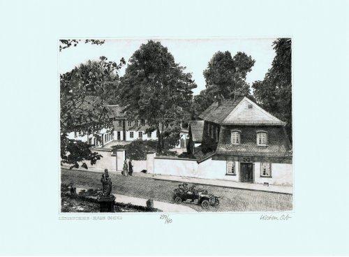 Lüdenscheid Haus Dicke, Leinwanddruck, Kunstgrafik, Radierung, Kunstdruck (Radierung, Bilder)