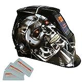 Sharplace Solare Autoscurante Casco Da Saldatura Maschera Da Saldatore Filtro Auto-oscurabile Lenti Di Protezione - Robot di metallo, come descritto