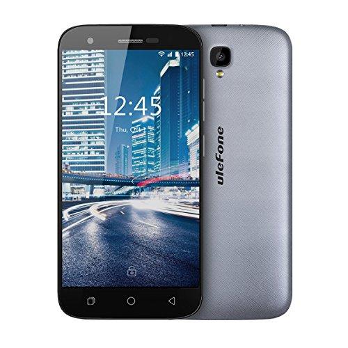 Ulefone U007 Pro SIM-free Smartphone 4G schermo HD 5.0 pollici Android 6.0, Fotocamera Posteriore 8MP Anteriore 2MP, Quad core, 1GB + 8GB, wifi GPS, Dual Sim, GSM WCDMA FDD-LTE (Grigio)