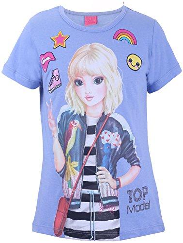 Top Model Mädchen T-Shirt Jenny 85006 Blau (140)