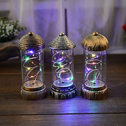 Homeofying Vintage Tischlampe mit glänzendem Filament-Griff, Hängeleuchte, Weihnachtsdekoration Zufällige Farbauswahl