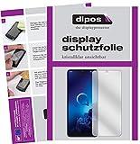 dipos I 5X Schutzfolie klar passend für Alcatel 3L Folie Bildschirmschutzfolie (bewusst Kleiner als das Glas, da Dieses gewölbt ist)