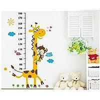 Monkey climbing on Giraffe Growth Chart wall sticker measuring children height wall deca