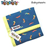 TuddyBuddy Bedding Sheet Cum Top Sheets for Baby | Dohar for Kids | Ideal for 0-3 yrs Kids. Swaddle Blanket, AC Blanket, Baby Wrapper, Quick Dry Swaddle Wrap. 100% Cotton | 130x120 Cms (Poodles & Pupies)