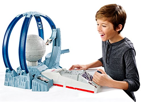 Mattel Hot Wheels DHH82 - Star Wars Carship Death Star Revolution Race, Spielbahn