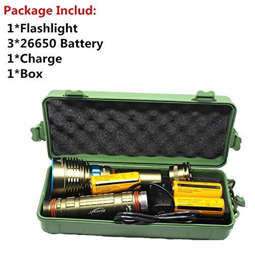 F, Cina, L2: 7* XML L218000lumen LED immersioni torcia elettrica 7x XML T612000LM LED torce Linternas subacquea 100m impermeabile lampada