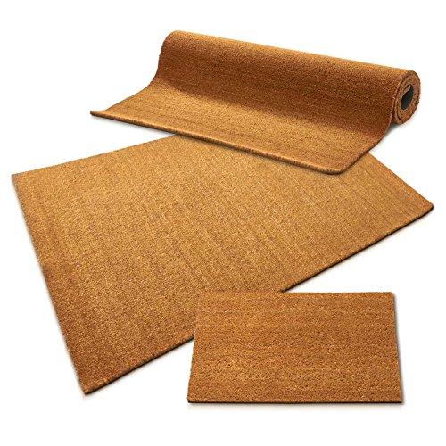 casa pura Kokos Fußmatte | Kokosmatte Meterware, auch für großflächige Eingänge | Kokosfaser Natur | viele Höhen und Größen (30mm, 50x80cm)