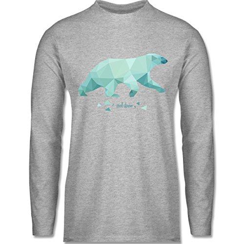 Wildnis - Cool down - Longsleeve / langärmeliges T-Shirt für Herren Grau Meliert