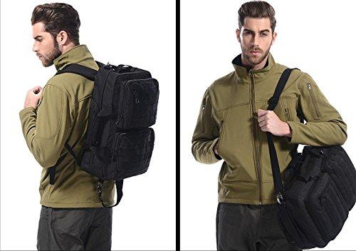 Team von Schüler Rucksack Mode Rucksack Handtaschen Reise im Freien Kohleschwarz