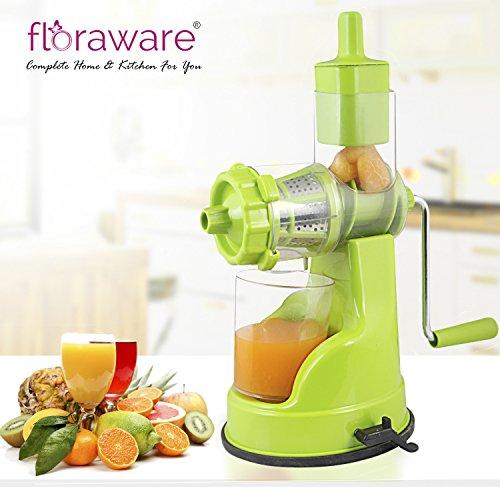 Floraware Plastic Fruit and Vegetable Juicer, Green