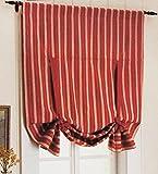 EQEQ Silk Road Baumwolle Verdunkelungsvorhänge, Streifen Können Sie Vorhänge Raffrollos für Küche Schlafzimmer Wohnzimmer - Blau 45