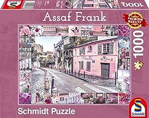 Schmidt Spiele 59630 - Puzzle (1000 Piezas), diseño de Assaf Frank, Romántico Viaje