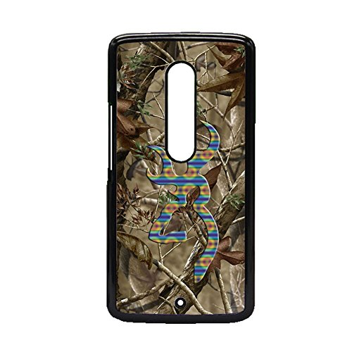 Generic Pc Slim for Moto Xplay for Wench Printed substance Browning Shells