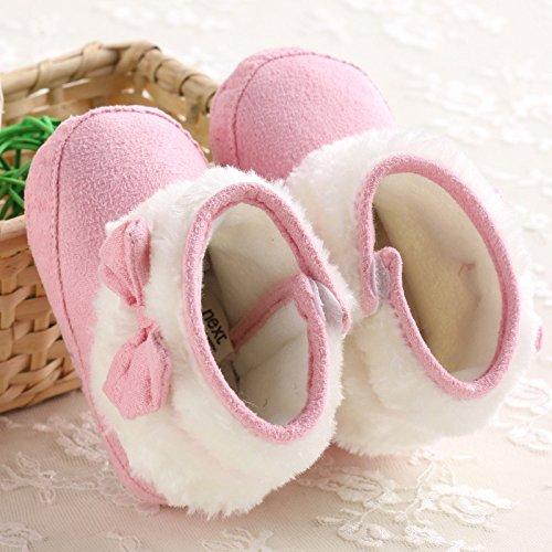 nbsp;Krippe M盲dchen Winter Stiefel Baby Pink Schneestiefel Warm Schuhe Kleinkind I4wqqx