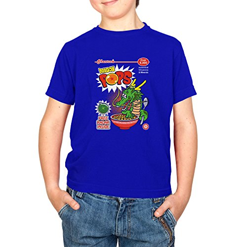 Texlab Dragon Pops - Kinder T-Shirt, Größe XL, Marine (Gt-komplette Dragon Serie Ball)
