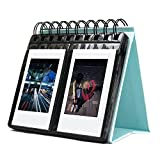 SAIKA 68 Pocketbook Album Polaroid Calendrier PhotoAlbum pour Instax Mini 25 26 70 7s 90 / Polaroid Snap/SnapTouch / Z2300 / Caméras instantanées SocialMatic/Zip InstantPrinter (Bleu)