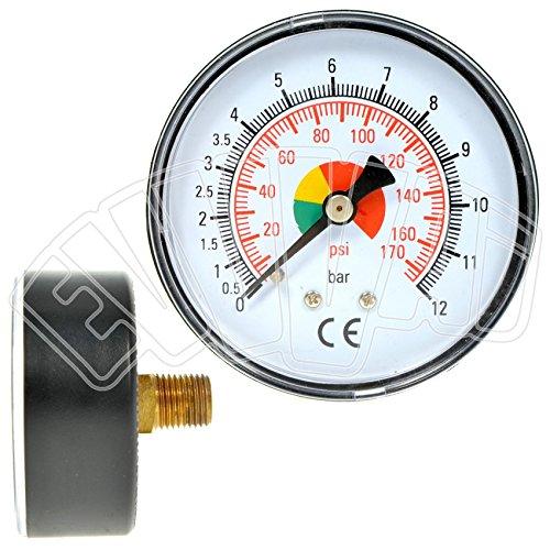 '0-12bar-1/4-Durchm. 63mm-Manometer A Trocken für Blutdruckmessgerät -