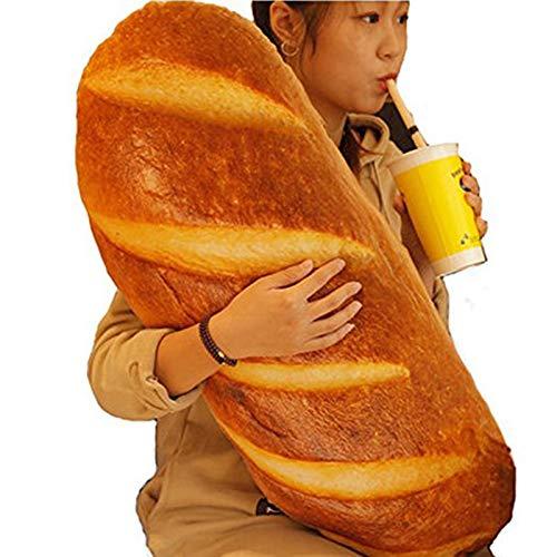Outtybrave 3D-Brot-Kissen in Form von Lebensmitteln Kissen Stofftier Heimdekoration, lustiges Geschenk, Butter Bread, 60 cm