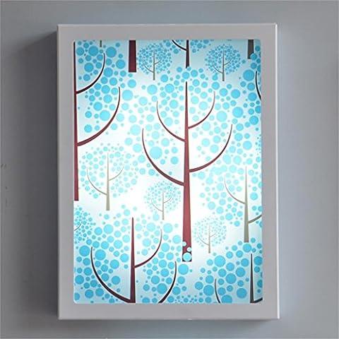 30 * 40cm, pintura decorativa mural de fotos LED Luz restaurante la lámpara de pared de entrada salón Escalera Luces Material