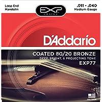 D'Addario EXP77 - Juego de cuerdas para mandolina de fósforo/bronce