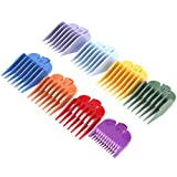 Frcolor Scatola da 1 confezione da otto pezzi Pettine Set colorazione arcobaleno Ricambi per capelli Accessori per capelli per barbiere