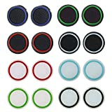 Dokpav Silicona Tapas Luminosas de Pulgar, Tapa de Joystick, Protectora de Joystick de Pulgares,Controlador Accesorios para Videojuegos , Agarres para el pulgar para PS3, PS4, Xbox 360, Xbox,8 Par