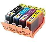 TONER EXPERTE® 4er Set Druckerpatronen kompatibel für HP 364XL Photosmart 5510 5514 5515 5520 6510 6520 B109a B110a Photosmart Plus B209a B210a Deskjet 3070A 3520 Officejet 4610 4620 | hohe Kapazität