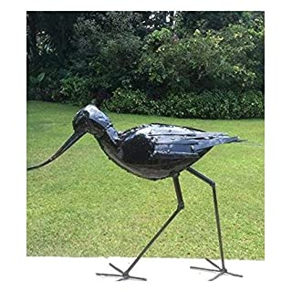 Wunderschön Hand Made Große Metall RSPB lackiert Picken Avocet Garten Skulptur–Teil der handgefertigt tilnar Fair Trade Serie