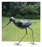 Magnifiquement fabriquée à la main Grande verni RSPB sauts en métal Avocet Sculpture de jardin–Fait partie de la gamme de Tilnar fait main Commerce équitable