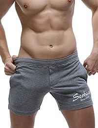 SEOBEAN Low Rise Sport Course à pied Entraînement pantalon court Homme