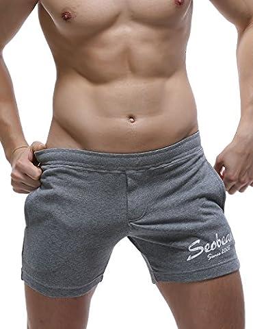 SEOBEAN Low Rise Sport Course à pied Entraînement pantalon court Homme (XS(25-27